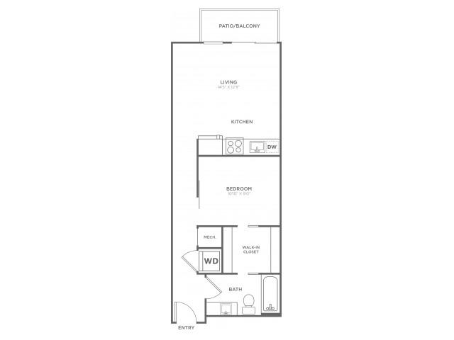A7 | 1 bed 1 bath | from 590 square feet