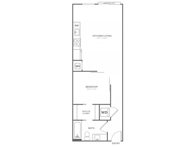 A10 | 1 bed 1 bath | from 618 square feet
