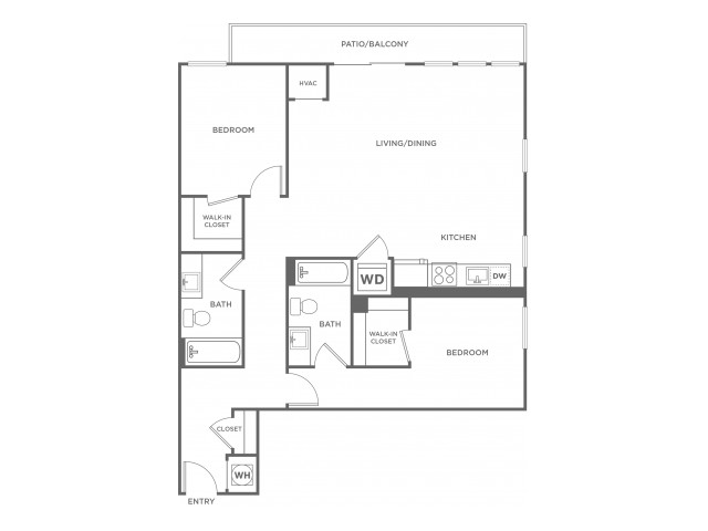 B3 | 2 bed 2 bath | from 1125 square feet