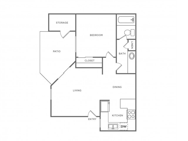 A1R | 1 bed 1 bath | from 601 square feet