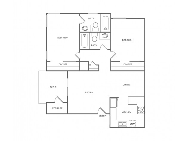 B2R | 2 bed 2 bath | from 835 square feet