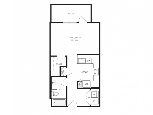 S2 | Studio1 bath | from 535 square feet