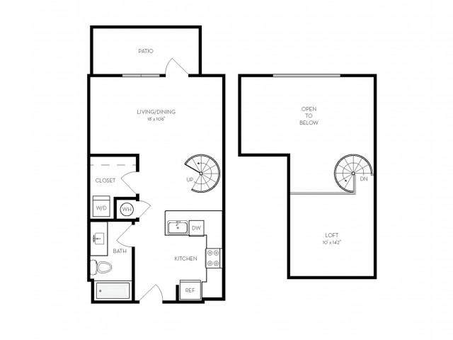 S3 | Studio1 bath | from 680 square feet
