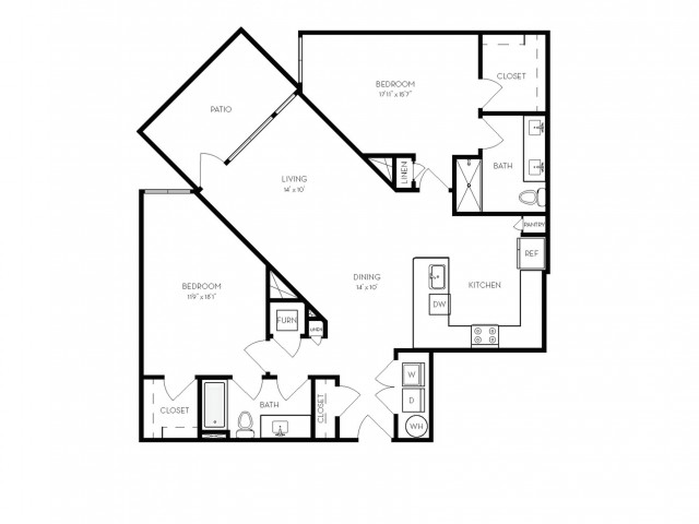 B2a | 2 bed 2 bath | from 1312 square feet