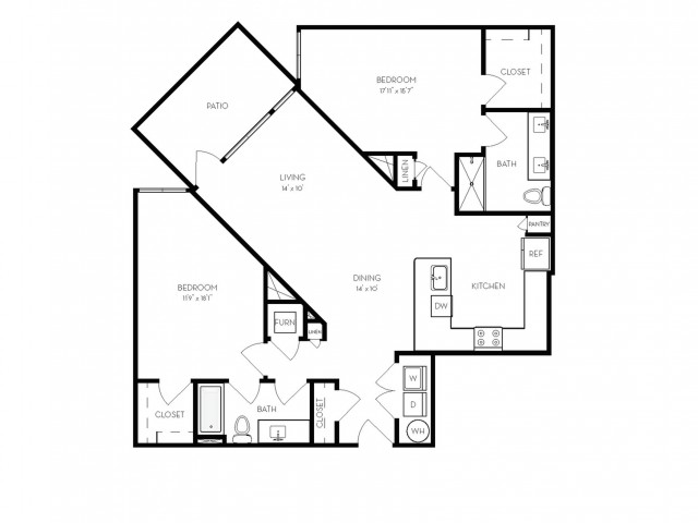 B6 | 2 bed 2 bath | from 1306 square feet