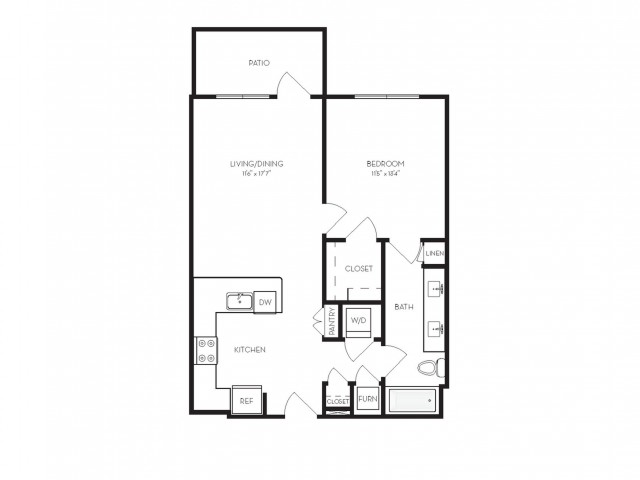 A2a | 1 bed 1 bath | from 715 square feet