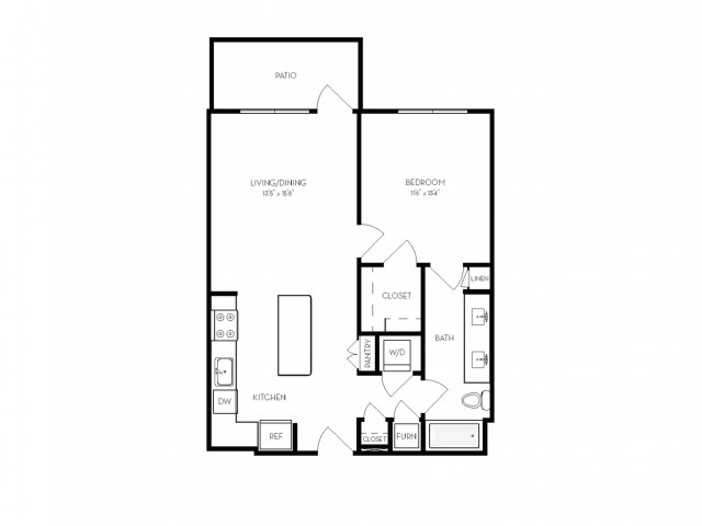 A4 | 1 bed 1 bath | from 745 square feet