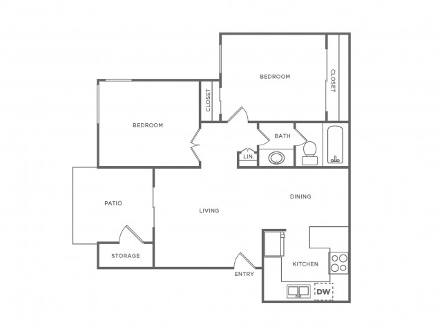 B1 | 2 bed 1 bath | from 747 square feet