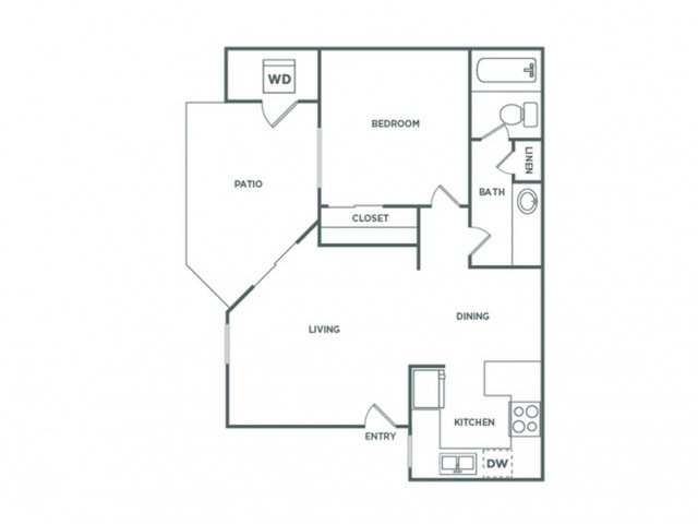 A1GR | 1 bed 1 bath | from 601 square feet