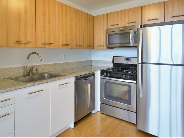 800 Sixth Apartments Kitchen  Stainless Steel Appliances