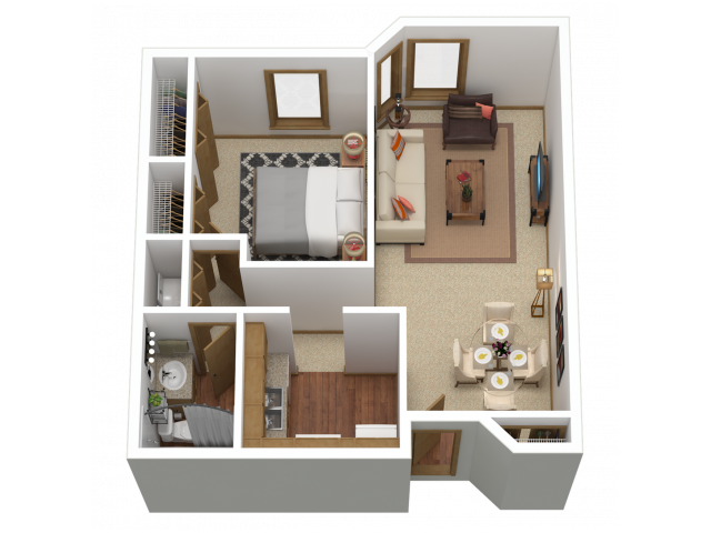 A4 | 1 bed 1 bath | from 859 square feet