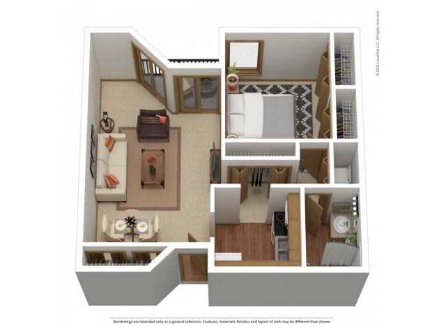 A7 | 1 bed 1 bath | from 932 square feet