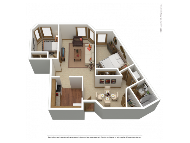 B1 | 2 bed 1 bath | from 955 square feet
