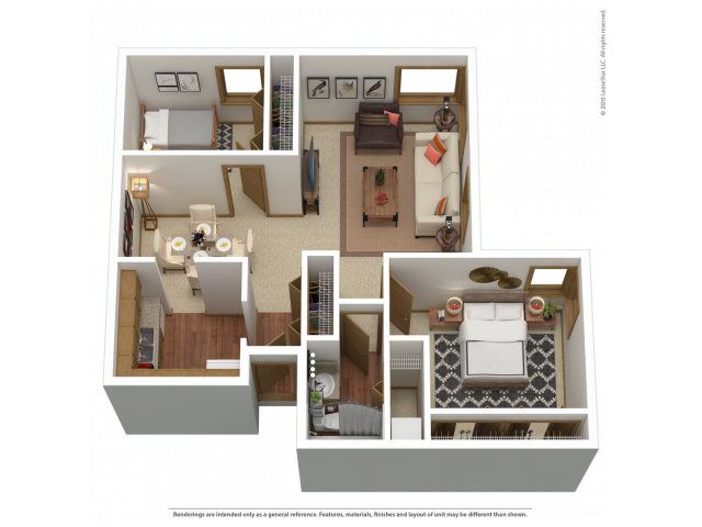 B2 | 2 bed 1 bath | from 990 square feet