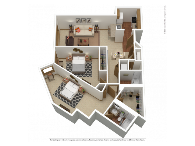 B6 | 2 bed 2 bath | from 1107 square feet