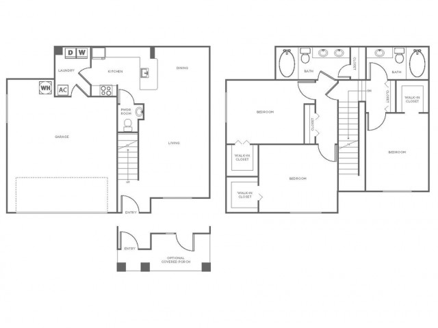 C2 | 3 bed 3 bath | from 1461 square feet
