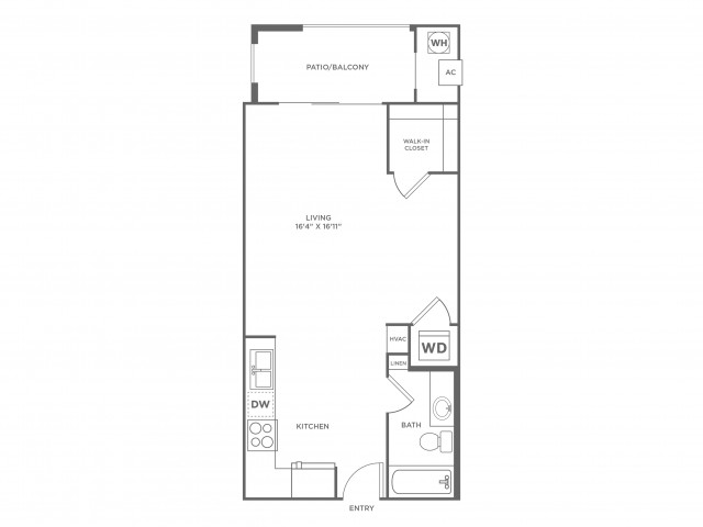Compatability | Studio1 bath | from 524 square feet