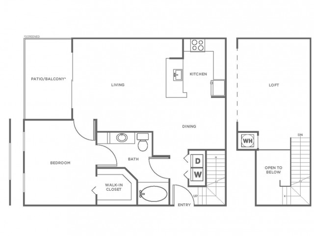 A2GIG | 1 bed 1 bath | from 1046 square feet