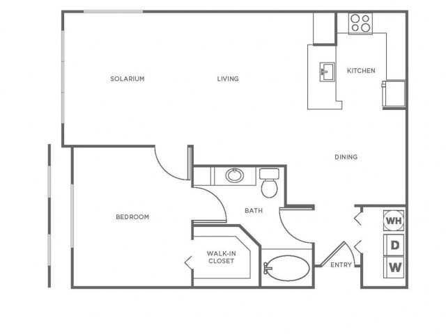 A3R | 1 bed 1 bath | from 943 square feet