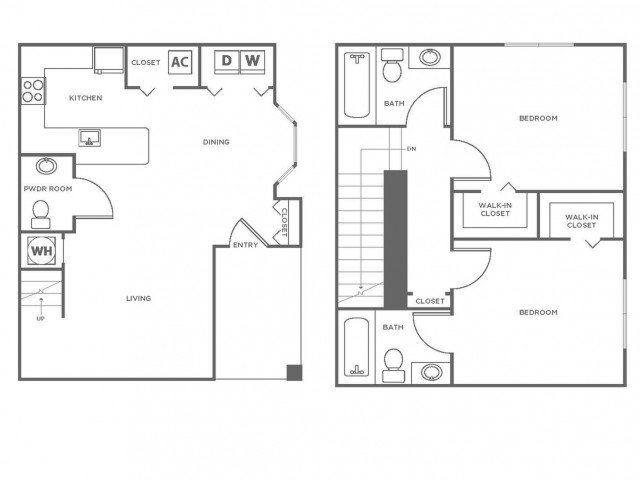 B2R | 2 bed 3 bath | from 1096 square feet