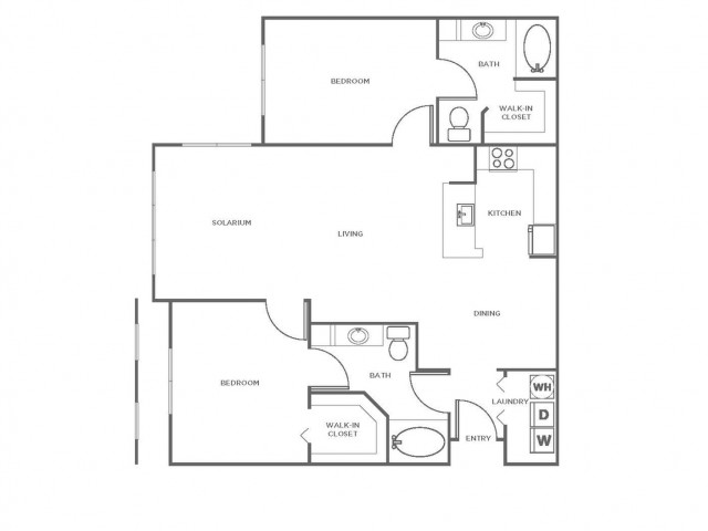 B5R | 2 bed 2 bath | from 1234 square feet