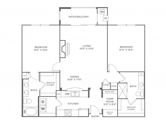 Velocity | 2 bed 2 bath | from 1286 square feet