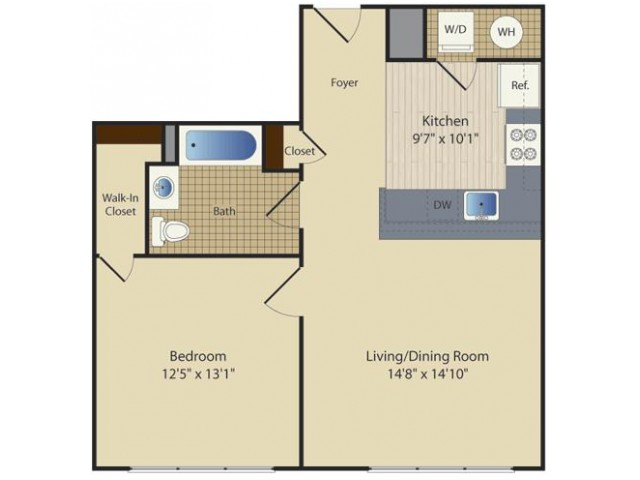 1 Bed G1 | 1 bed 1 bath | from 693 square feet