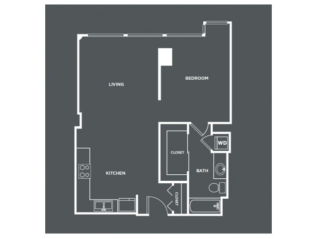 A12 | 1 bed 1 bath | from 744 square feet