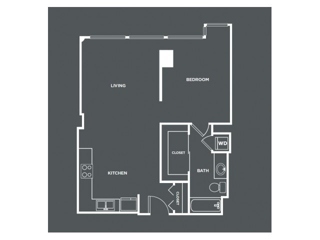 A12-R | 1 bed 1 bath | from 744 square feet