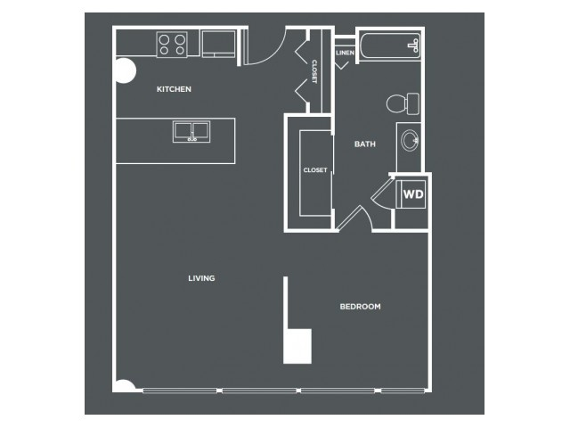 A1PH | 1 bed 1 bath | from 744 square feet
