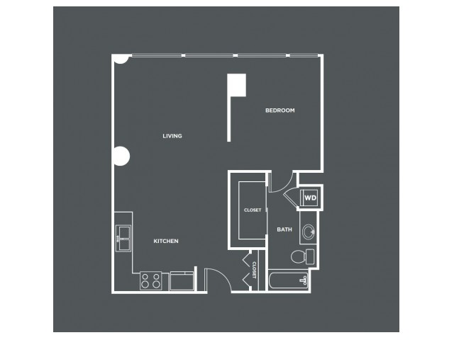 A2-R | 1 bed 1 bath | from 757 square feet
