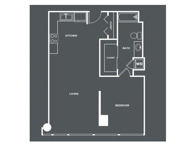 A9-R | 1 bed 1 bath | from 812 square feet