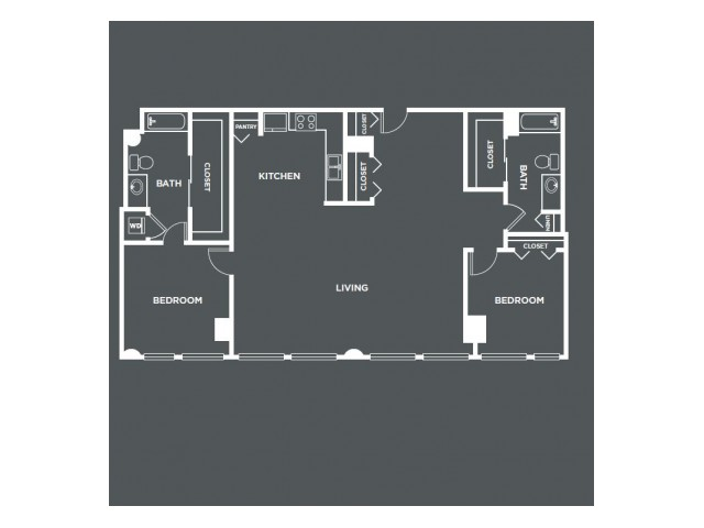 B5PH | 2 bed 2 bath | from 1556 square feet