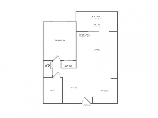 Plan B Plus   1 bed 1 bath   from 722 square feet