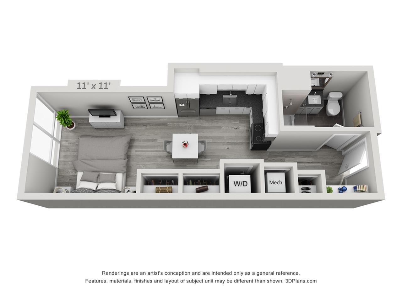 S1 | Studio1 bath | from 472 square feet