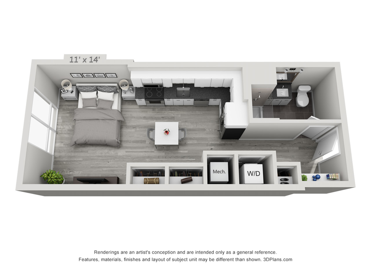 S2 | Studio1 bath | from 503 square feet