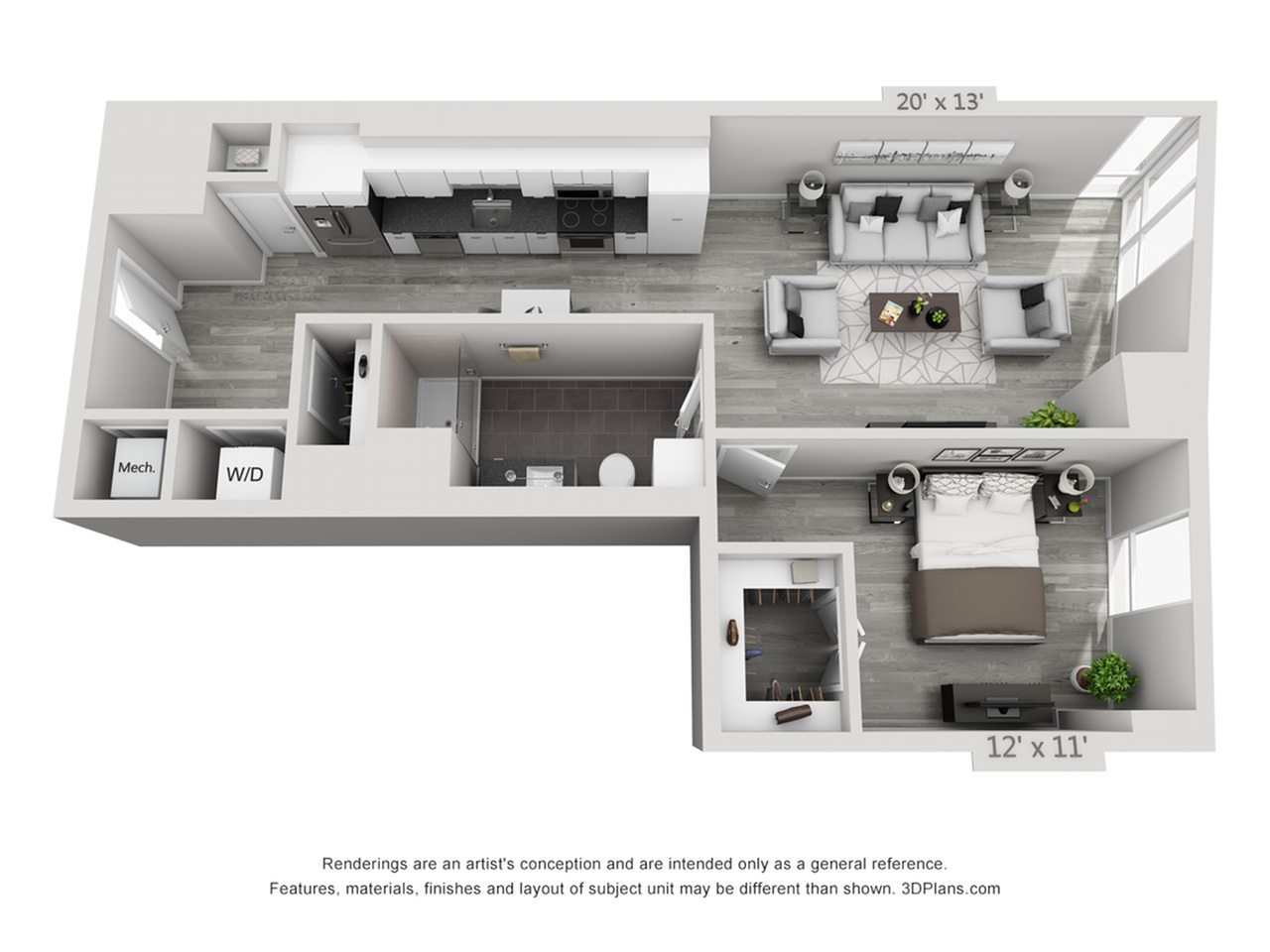 A4 | 1 bed 1 bath | from 850 square feet