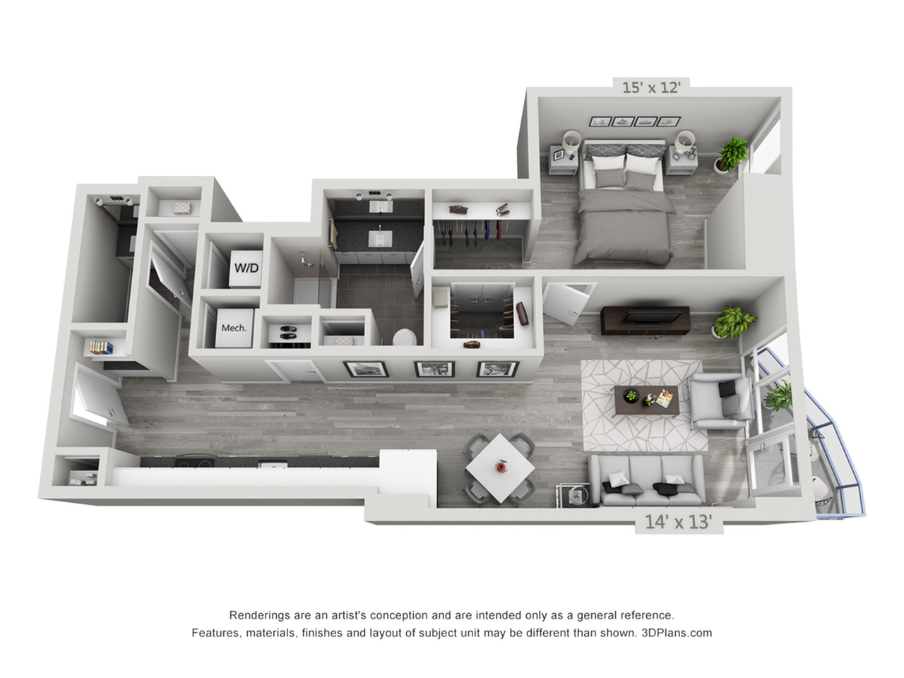 A5 | 1 bed 2 bath | from 875 square feet