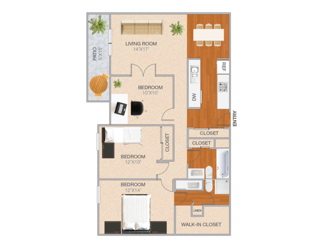 Westwood | 2 bed 2 bath | from 1253 square feet