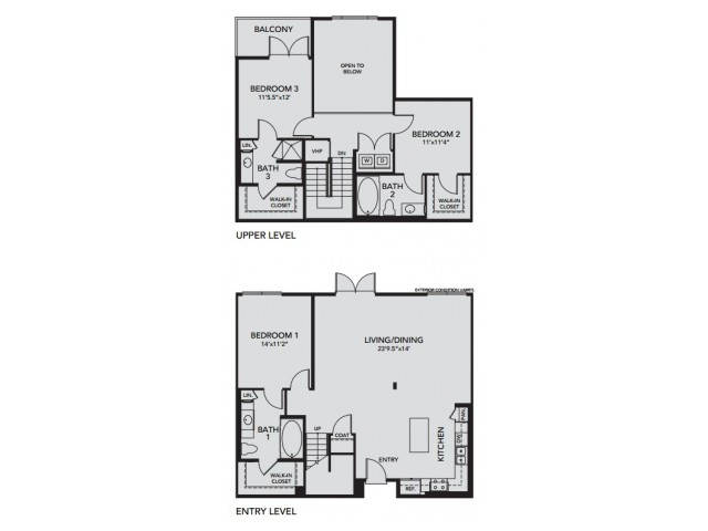Plan C1 | 3 bed 3 bath | from 1758 square feet