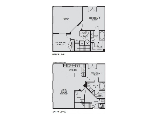Plan C3 | 3 bed 4 bath | from 1844 square feet