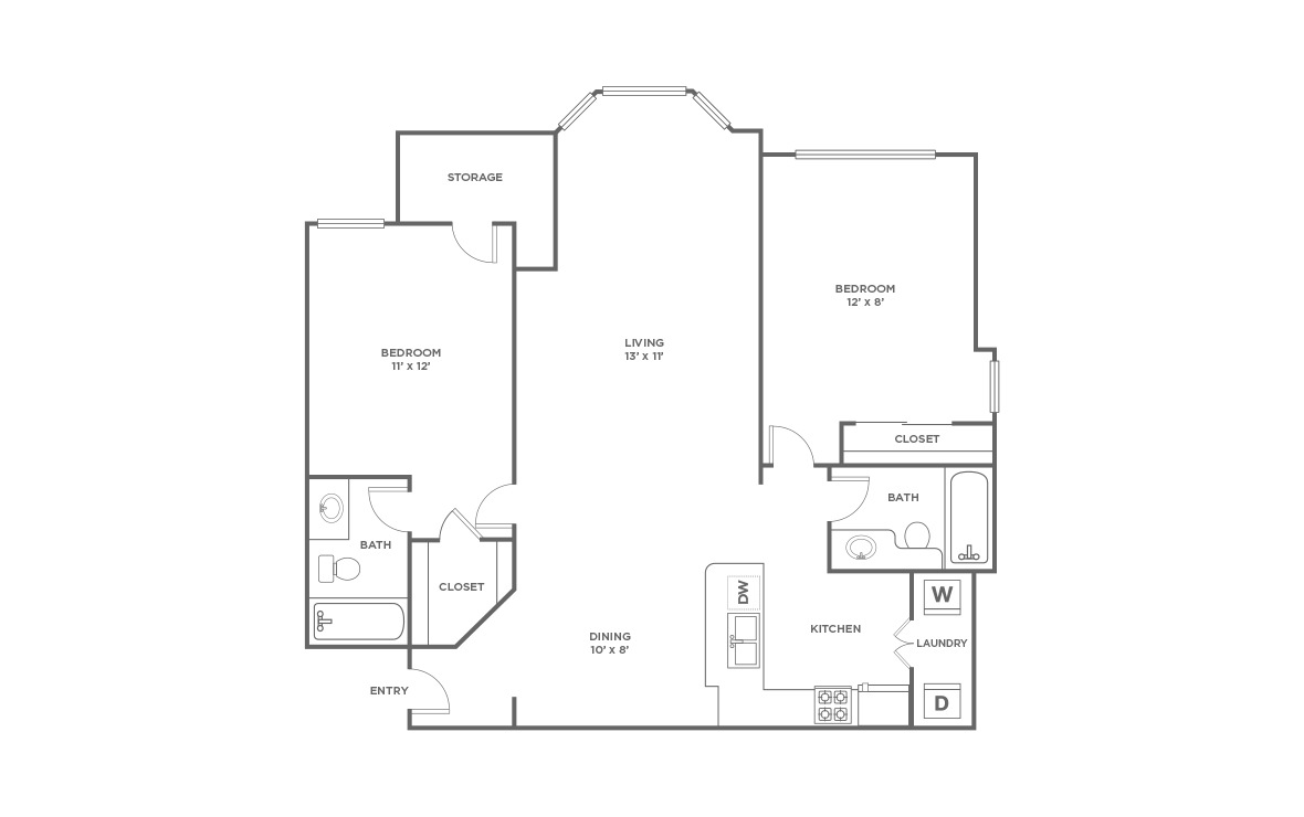 B2 | 2 bed 2 bath | from 1170 square feet