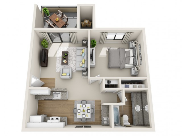 Willow | 1 bed 1 bath | from 694 square feet