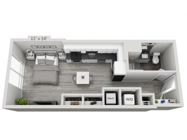 S2-Alt | Studio1 bath | from 503 square feet