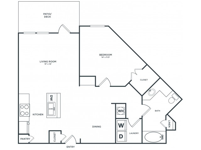 A4 | 1 bed 1 bath | from 925 square feet