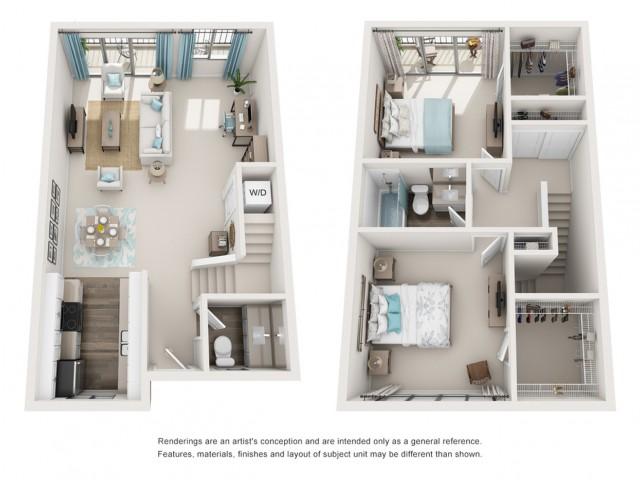 Amalfi-gr | 2 bed 2 bath | from 1125 square feet