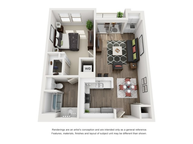 B2   1 bed 1 bath   from 717 square feet