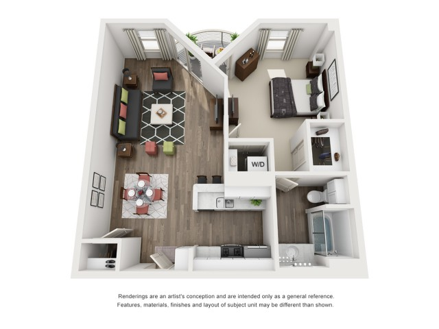 B3   1 bed 1 bath   from 765 square feet