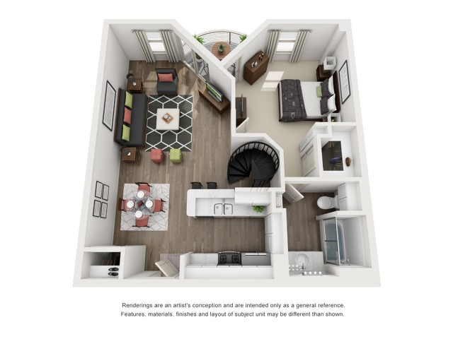 E   2 bed 2 bath   from 1328 square feet