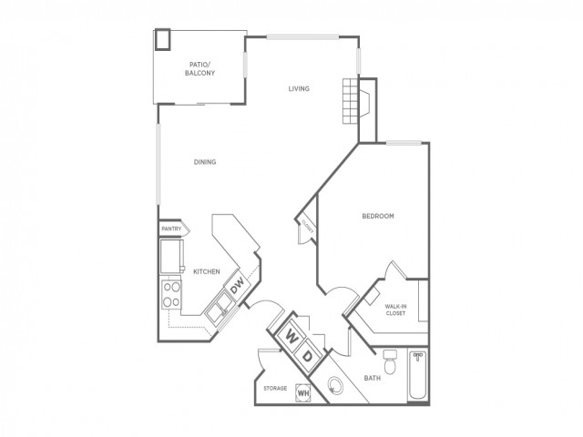 1A   1 bed 1 bath   from 799 square feet